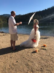 Tiffany and William Walker were married at Whiskeytown in July 2017.