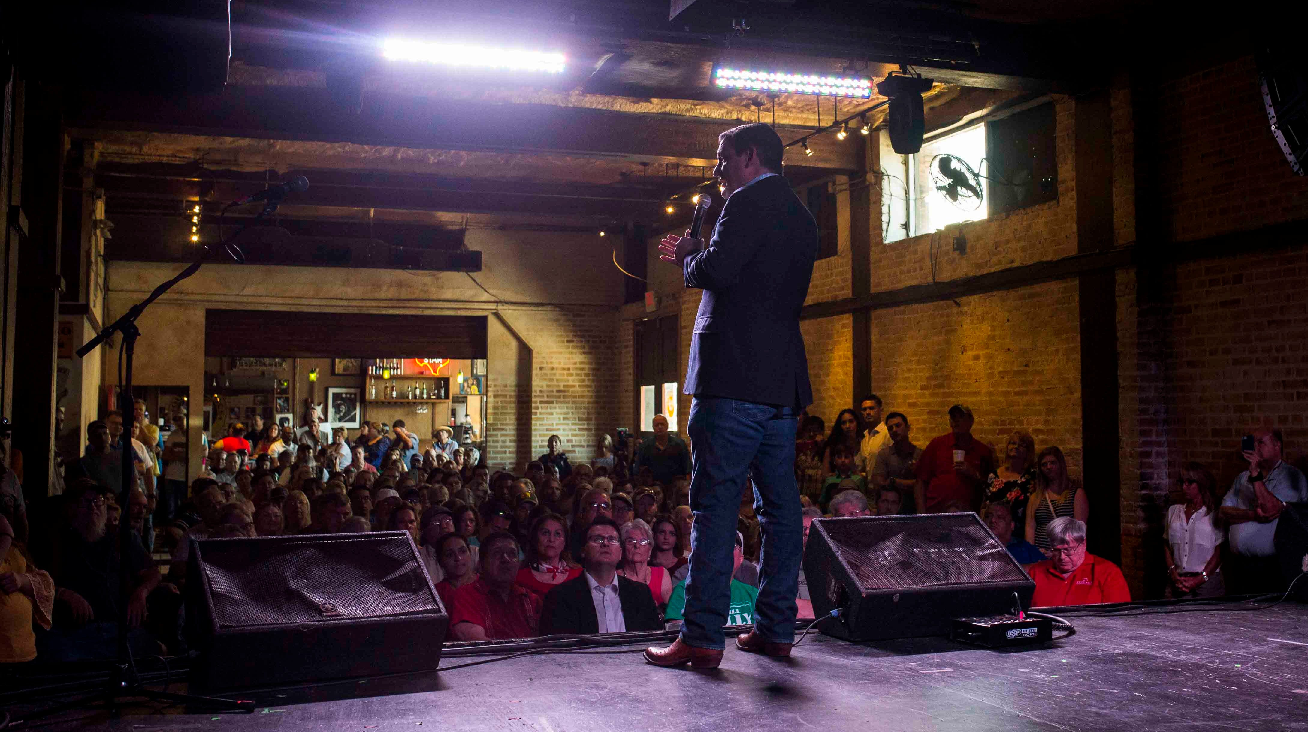 U.S. Sen. Ted Cruz at Corpus Christi's House of Rock during a campaign stop on Aug. 18, 2018.