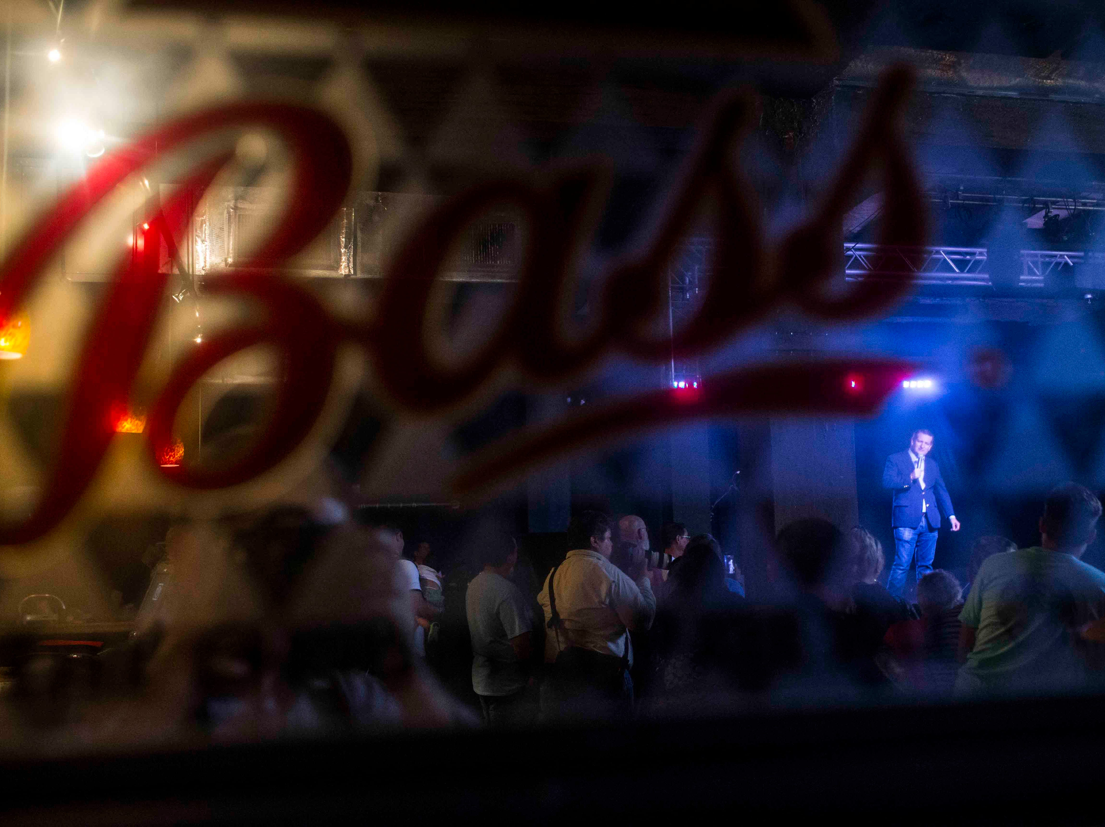 People gather for a Ted Cruz campaign event on Saturday, August 16, 2018, at House of Rock in Corpus Christi.