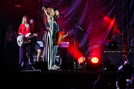 Sugarland performs on the Iowa State Fair Grandstand on Friday, Aug. 17, 2018 in Des Moines.