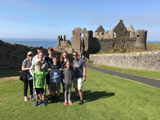 Family At Dunluce Castle