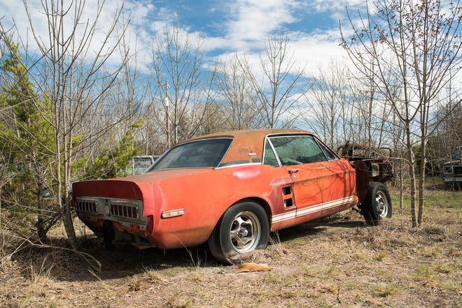 """""""Little Red,"""" an experimental Ford Mustang that""""s the father of every Shelby GT 500 performance car ever built, was found in rural North Texas, where it has been stored by the same owner for more than two decades."""
