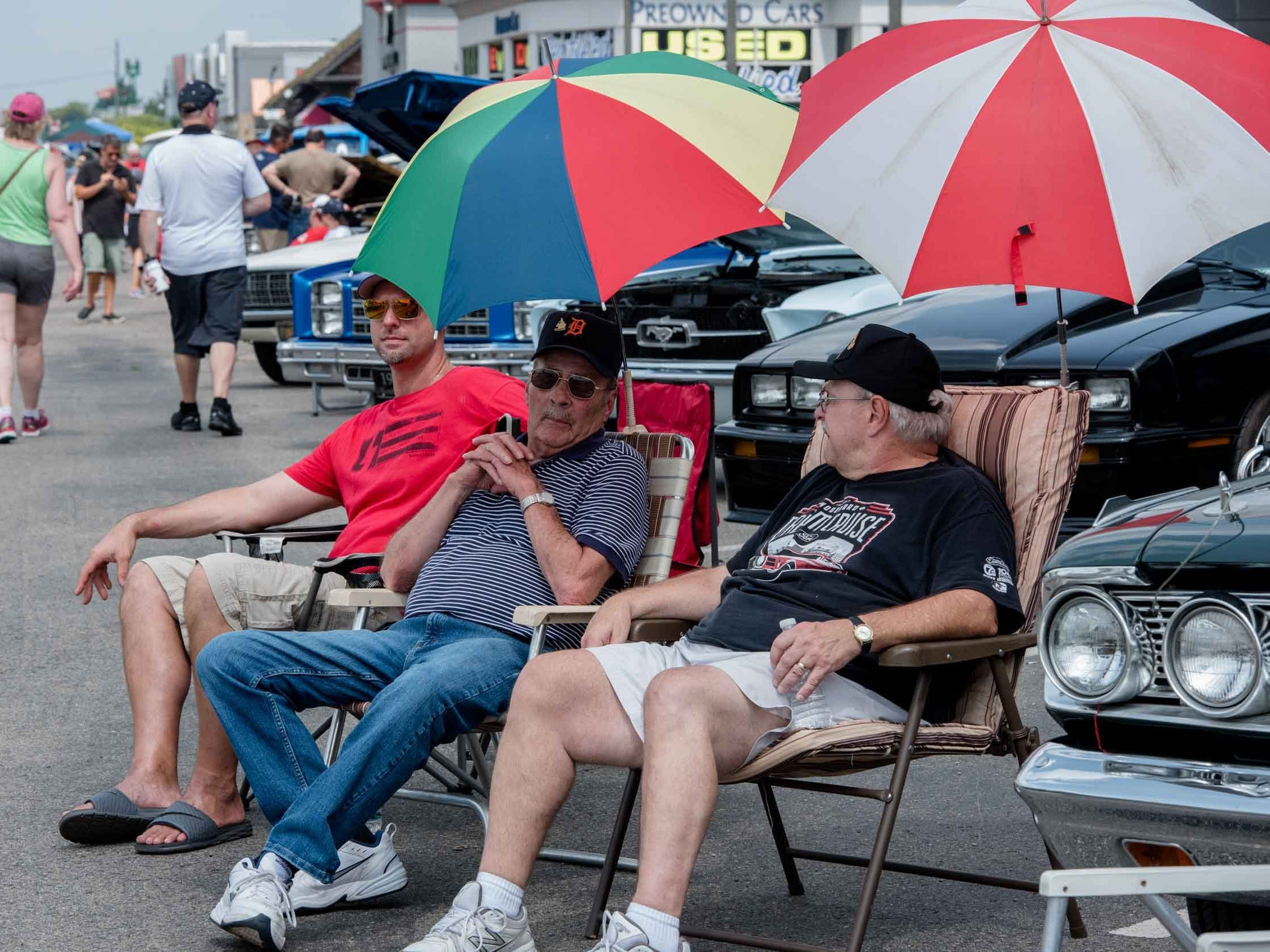 Tens of thousands of classic car enthusiasts lined the edges of Woodward Avenue during Dream Cruise 2018, Aug. 18. 2018.