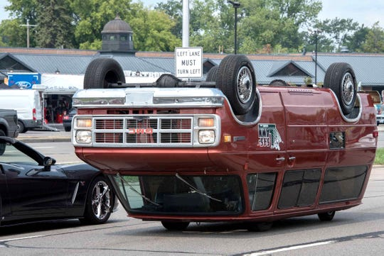 An GMC vehicle is during the 2018 Woodward Dream Cruise. August 18, 2018.