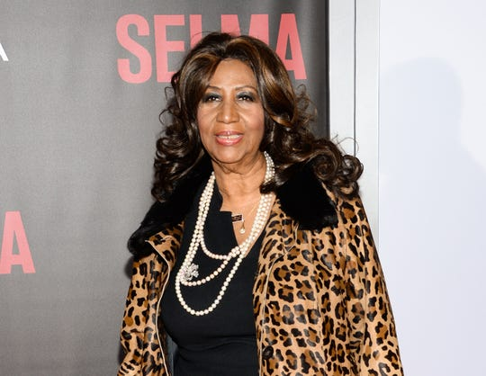 "Aretha Franklin attends the premiere of ""Selma"" in New York."