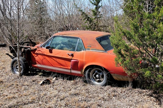 """Little Red,"" an experimental Ford Mustang that""s the father of every Shelby GT 500 performance car ever built, was found in rural North Texas, where it has been stored by the same owner for more than two decades."
