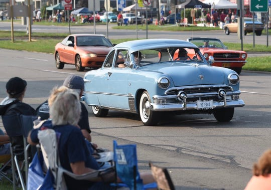 This 1951 Ford turned heads along Woodward Avenue on Saturday as part of the 24 annual Woodward Dream Cruise.