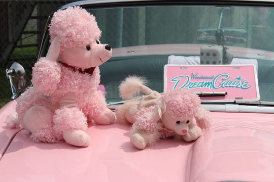 Pat Wiegand splashes the Woodward Dream Cruise with pink.