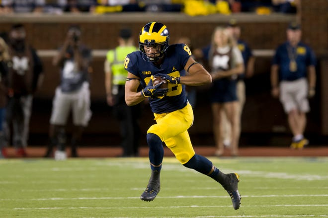 Michigan wide receiver Grant Perry