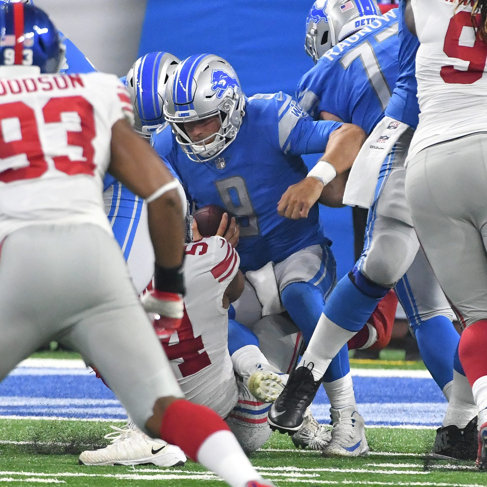 Lions' O-line has forgettable preseason home opener