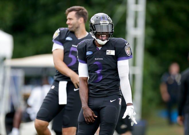 Baltimore Ravens quarterback Robert Griffin III