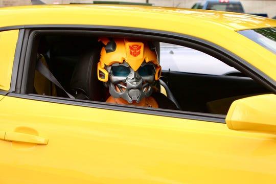 Robin DeDecker takes having a Transformer seriously.  Very seriously.