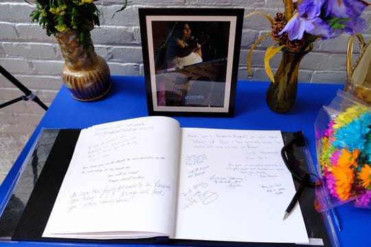 The Motown Museum had a guest book available for visitors to sign and share their condolences to Aretha Franklin's family.