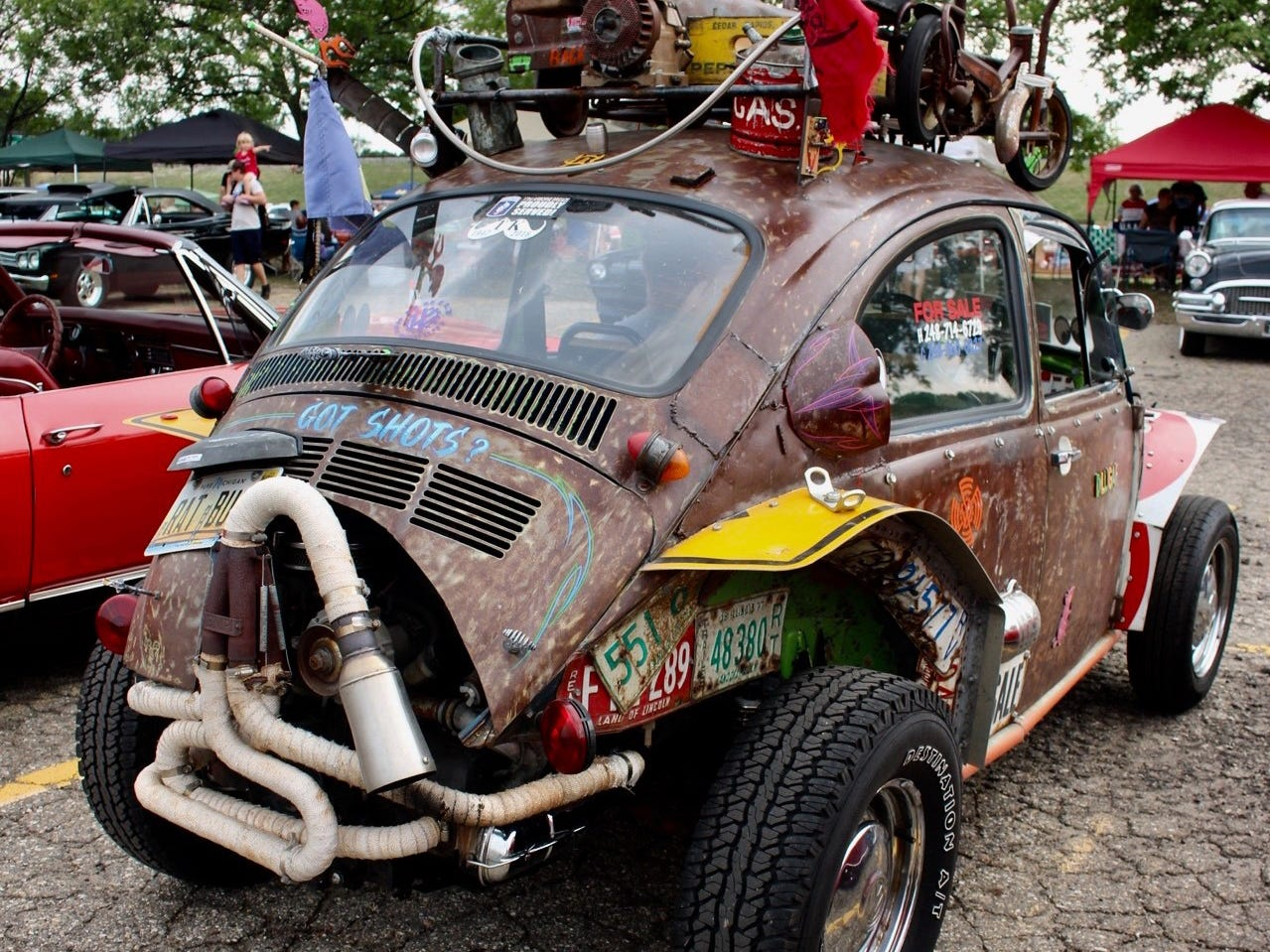 "The Volkswagen ""Rat Bug""... It's for sale, too."