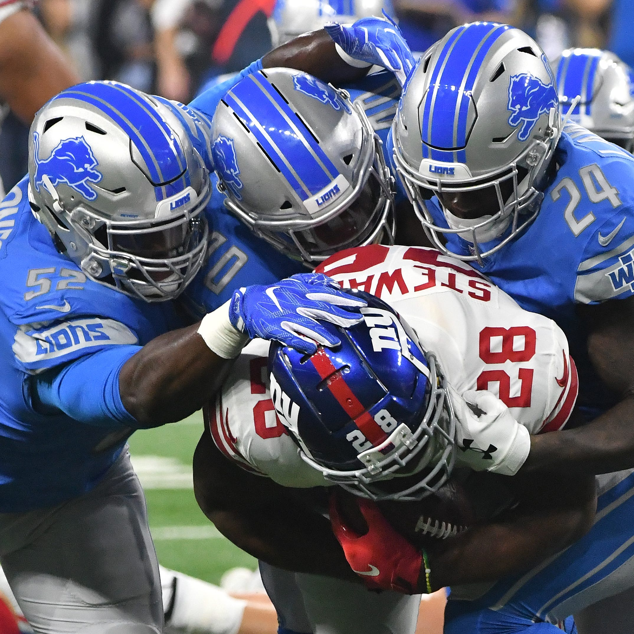Lions' starters sloppy, struggle in lashing by Giants