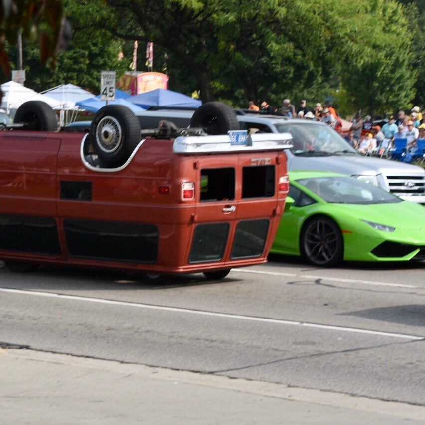 Most unusual cars at the Dream Cruise