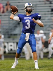 St. Mary's Springs quarterback Mitchell Waechter led the Ledgers to the Division 6 state championship as a junior last season.