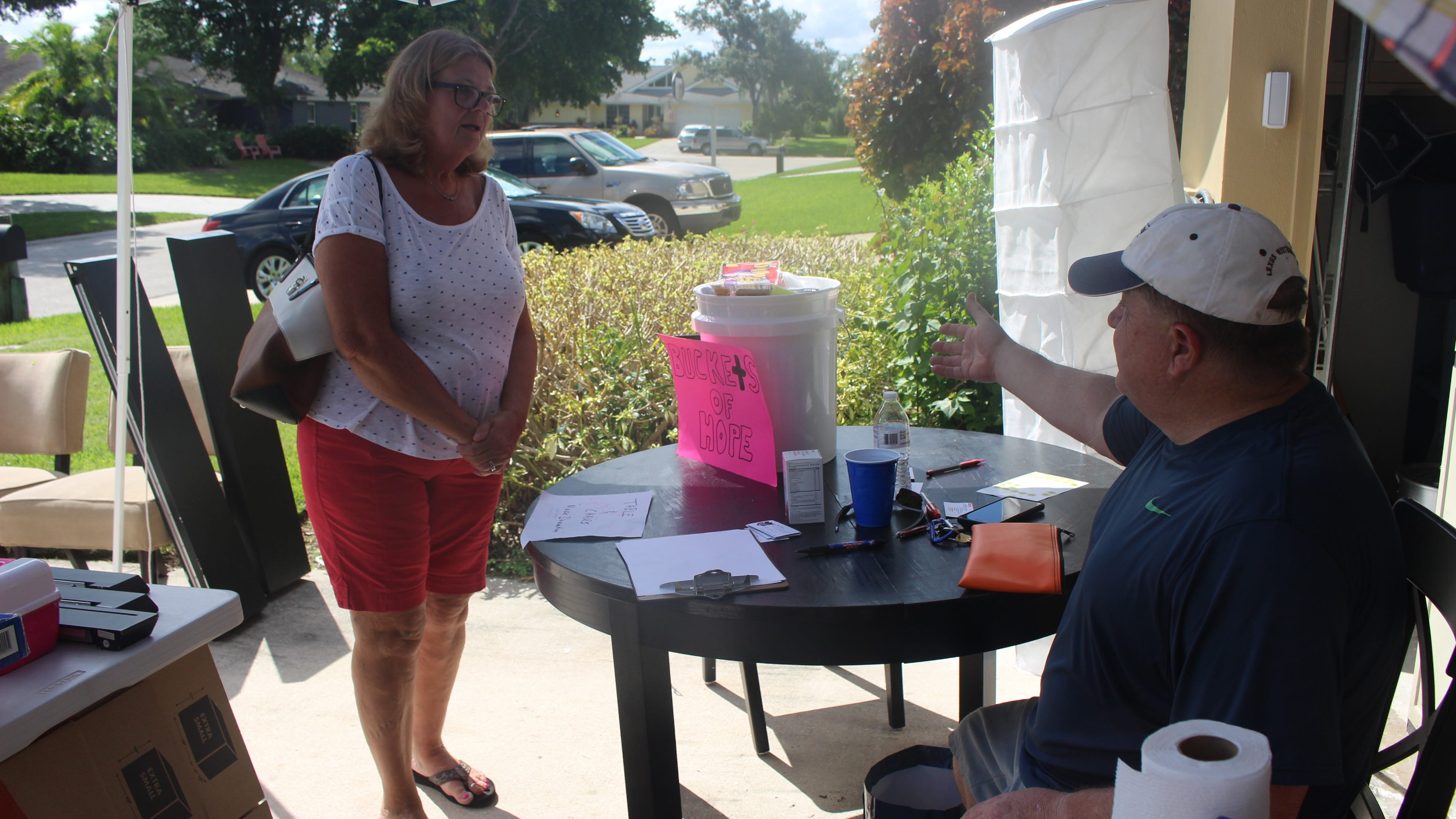 Yard sale used as a fundraiser for 'Buckets of Hope'