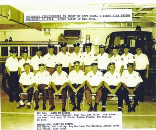 Cape Coral's first fire engine, which was purchased in 1964.