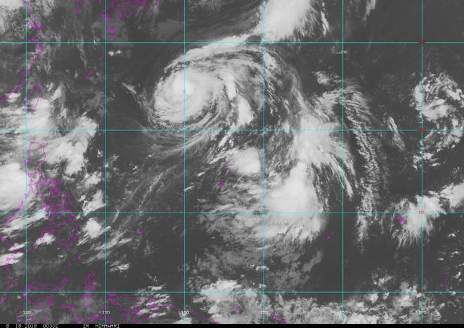 A tropical depression, 23W, has formed about 710 miles east of Guam.