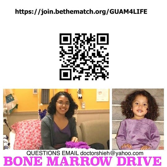 Guam residents can follow the QR Code to sign up to be a bone marrow donor.