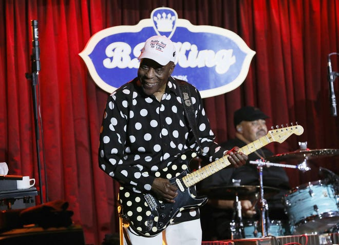 Buddy Guy performs performs onstage during B.B. King Blues Club & Grill's Final Show With Buddy Guy at BB King on April 29, 2018 in New York City.