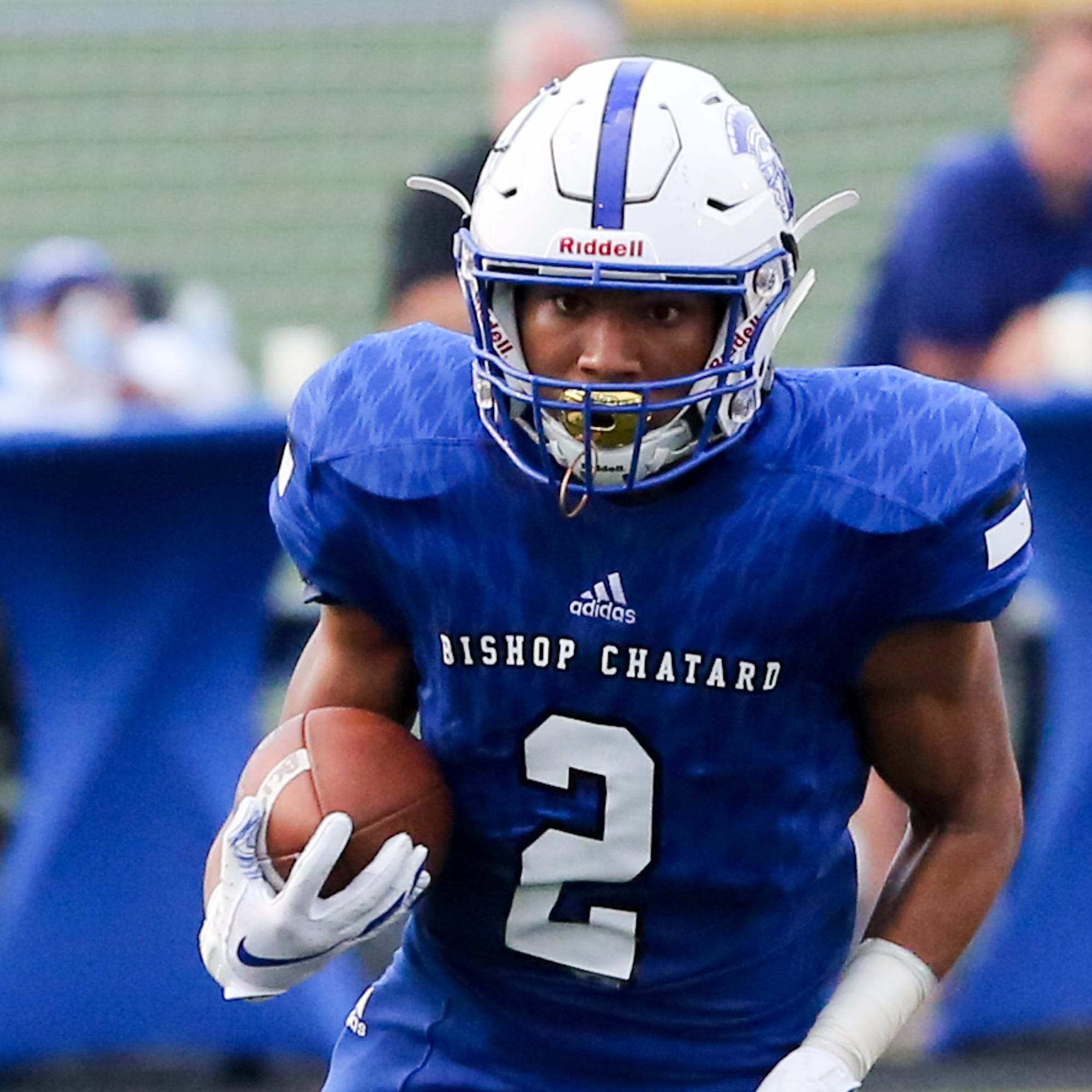Bishop Chatard's Daylen Taylor scored four times in the Trojans' win over Southport.
