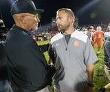 Mike Kirschner and his son Jon, both head football coaches, square off on Friday night action, won by dad 43-14.