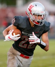 West Lafayette's R.J. Erb has a knack for turning a short-yardage play into a big gain.