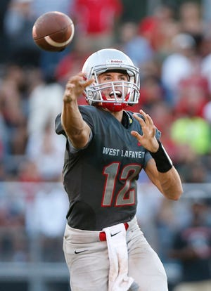 Kyle Adams set multiple records as a first-year starting quarterback at West Lafayette.