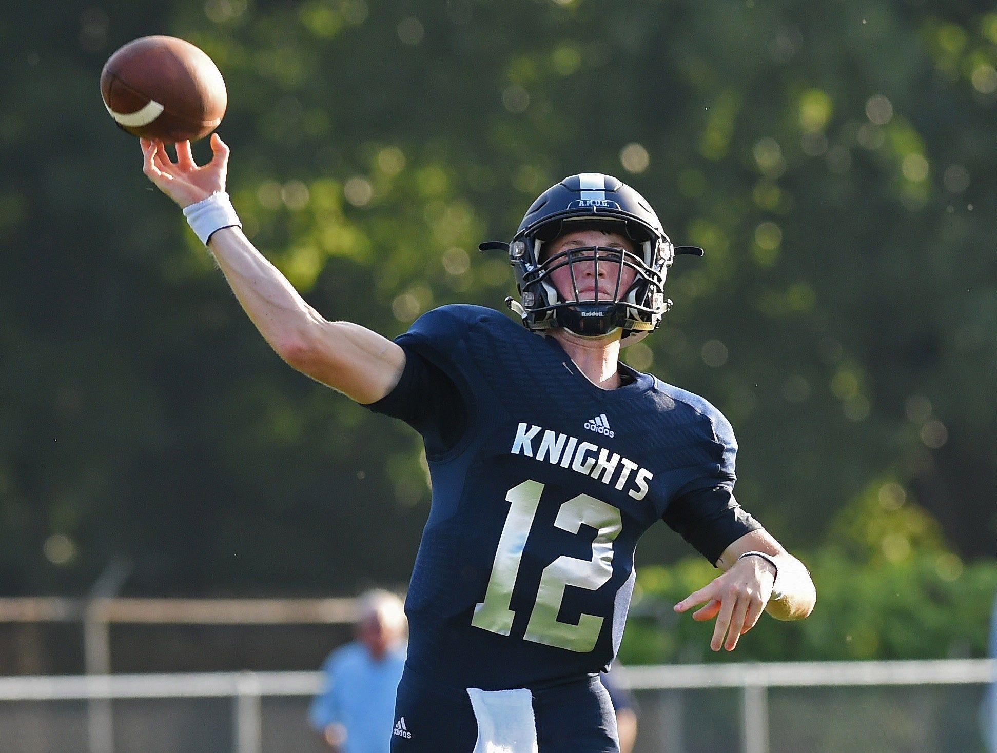 Central Catholic quarterback Wes Dulin.