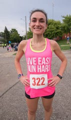 Catie Irwin finished first for the women in the Melon Run 10k Friday, Aug. 17, 2018.