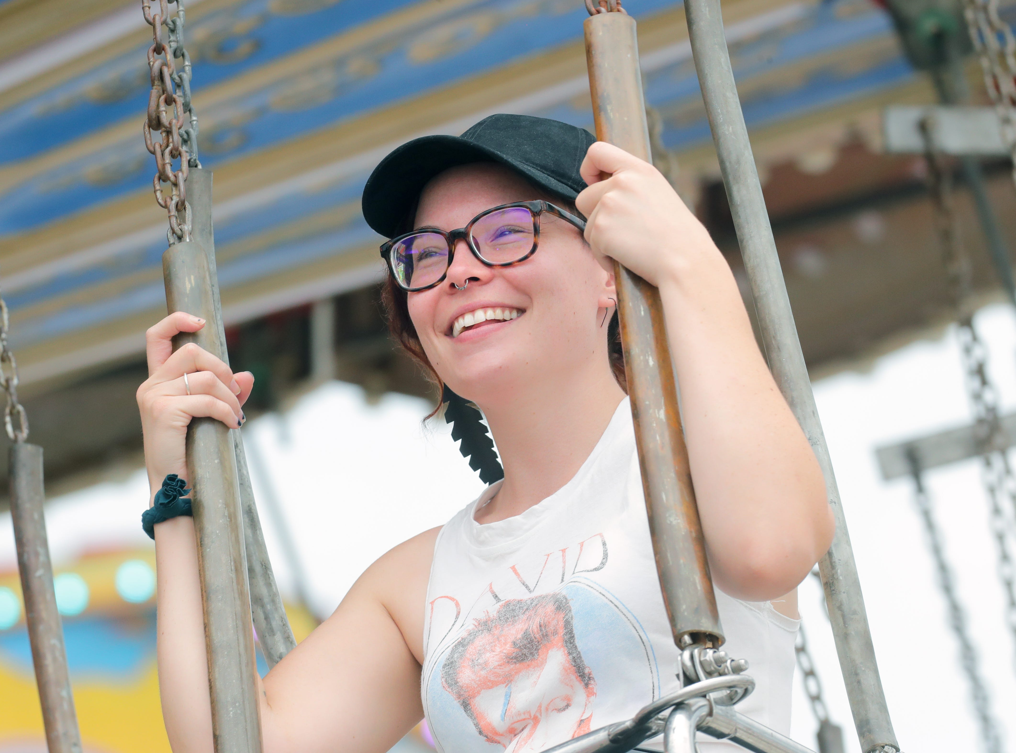Scenes from the Midway of the Kentucky State Fair on Saturday.