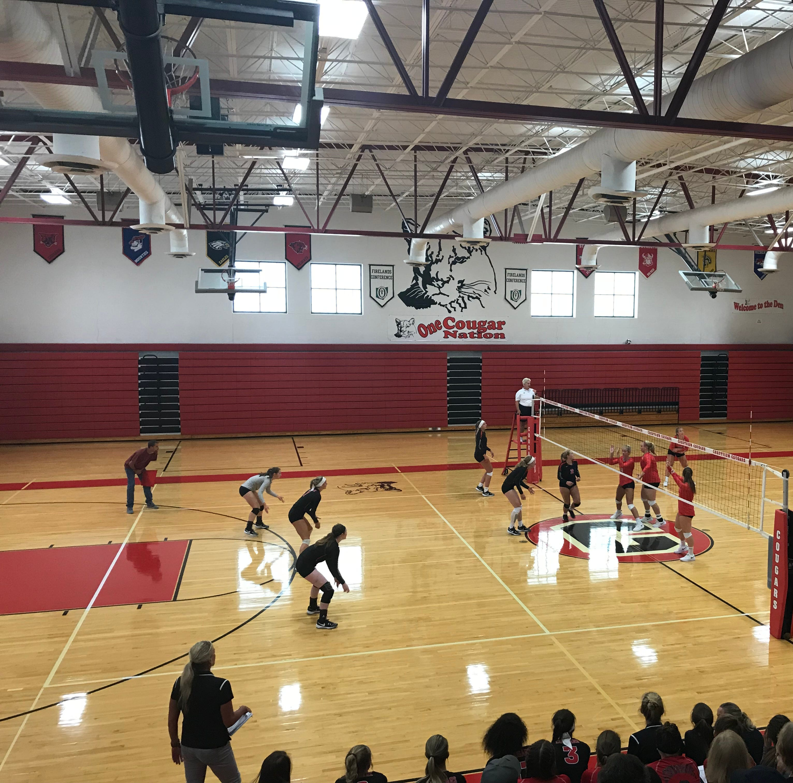 Crestview Cougars, Buckeye Central Buckettes put on a show to kick off volleyball season