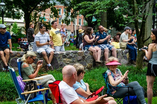 The audience at the 2018 Morristown Jazz & Blues Festival on the Green in Morristwon, August 18, 2018.  Photo by Warren Westura for the Daily Record.