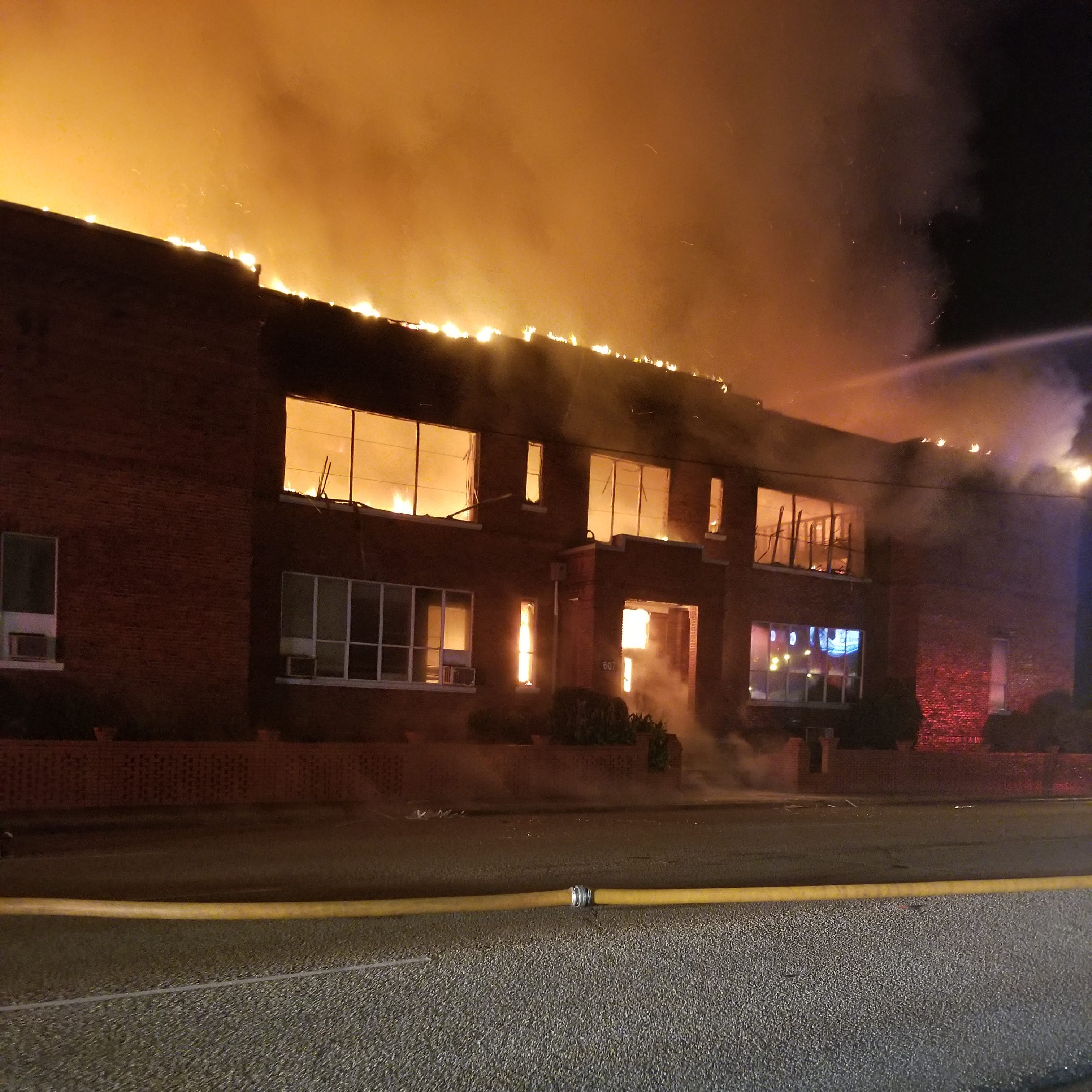 Fire destroys Booker T. Washington High School building
