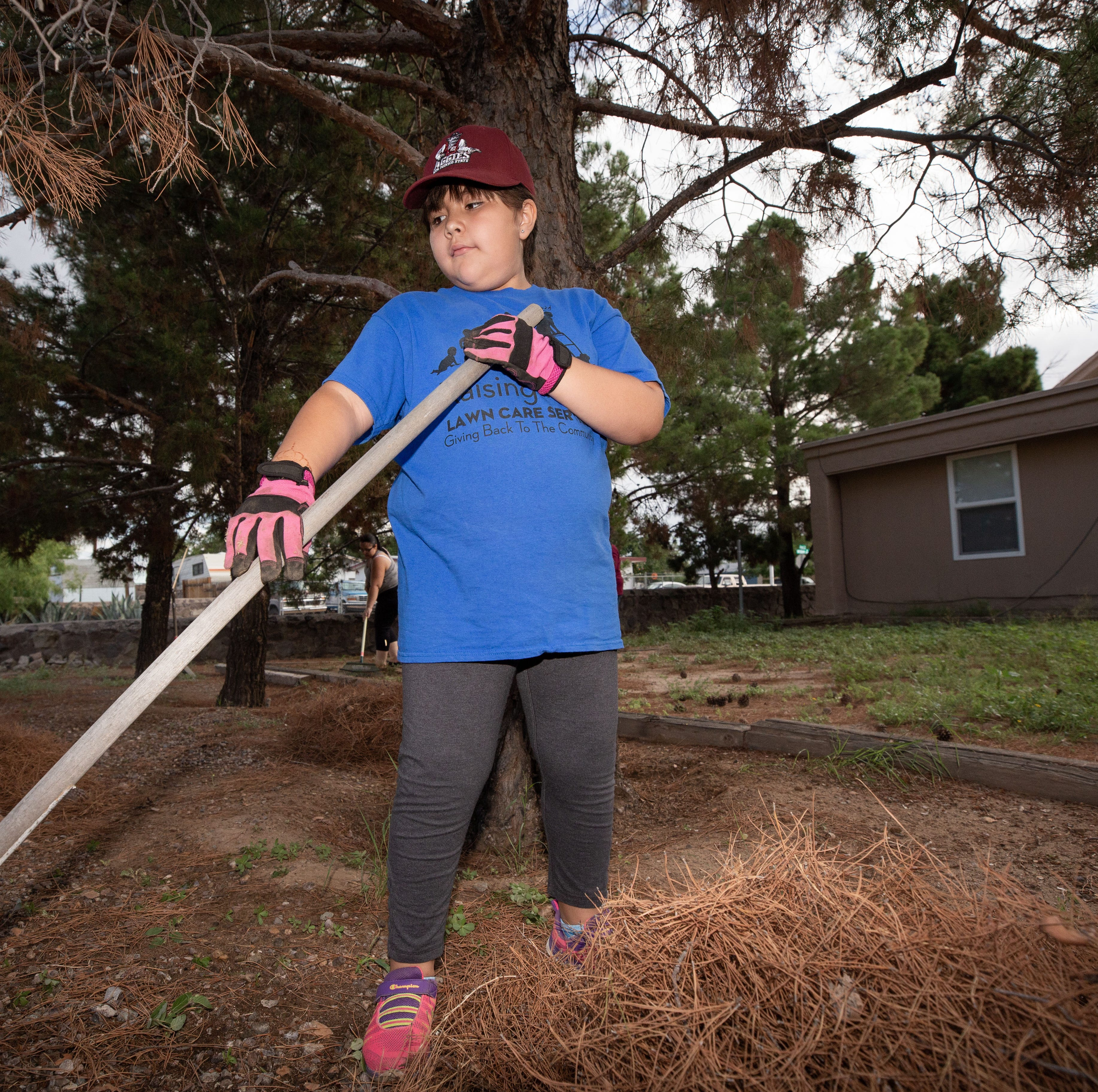 9-year-old Las Cruces girl takes on 50-yard challenge