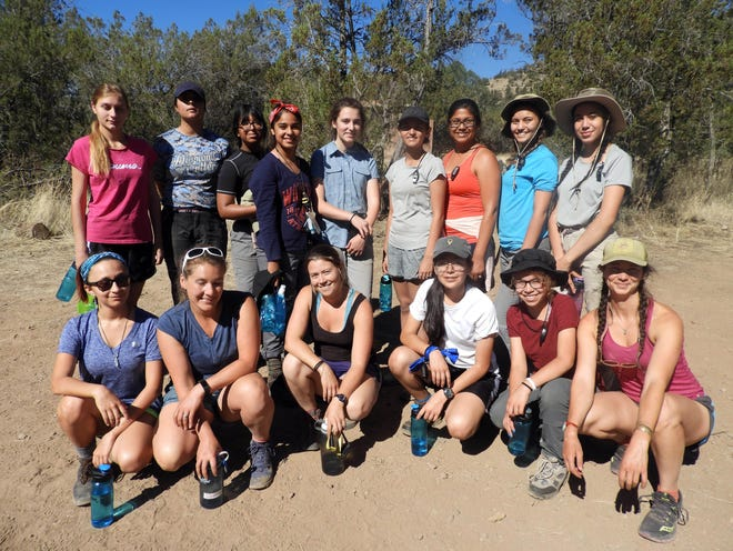 Girls from eighth through 12th grade spent five days backpacking through the Gila National Forest with four New Mexico State University graduate students in June 2018 through the Girls on Outdoor Adventure for Leadership and Science program.