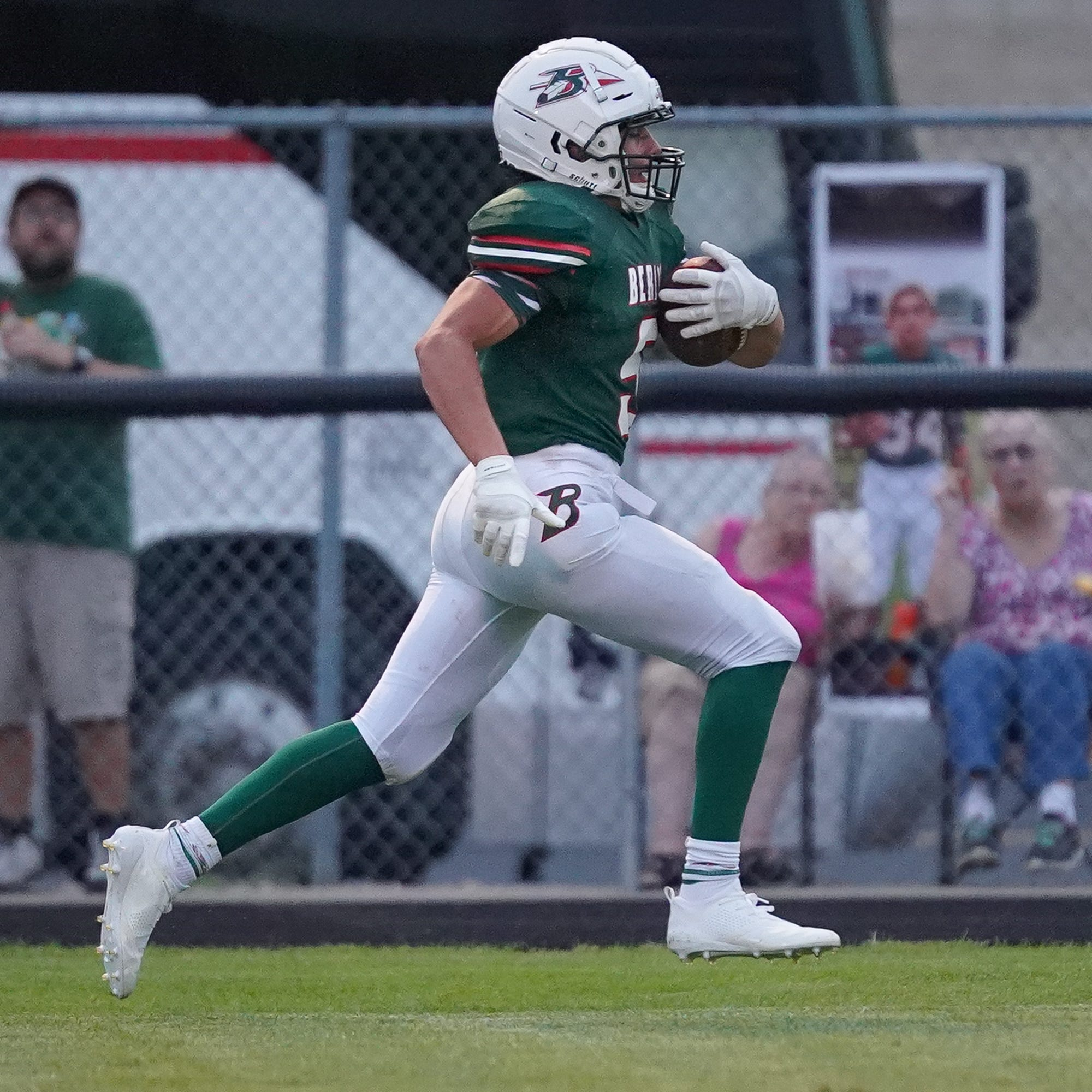 Alec Moriarty churns out yards, touchdowns to help Berlin to win