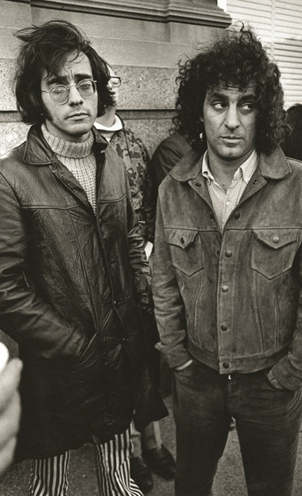 Abe Peck (left), former editor of the underground newspaper, the Chicago Seed, is pictured with Yippie co-founder Abbie Hoffman.