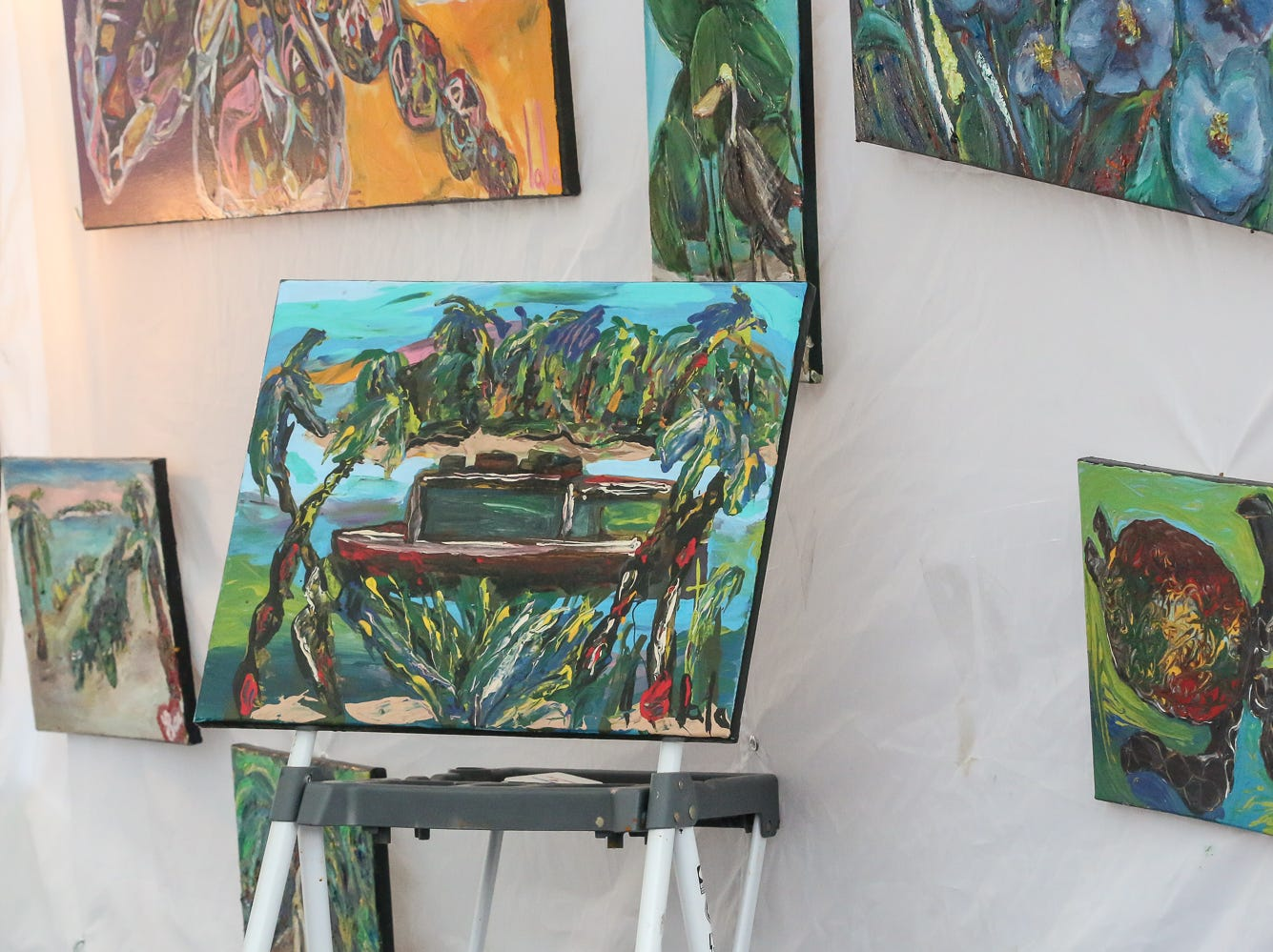 Some of the pieces on display during Gallery Night on Friday, August 17, 2018.