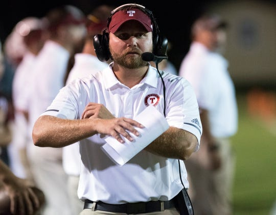 Tate football coach Jay Lindsey and the Aggies defeated Pensacola High on Friday night.