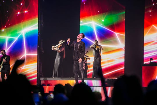 Panic! at the Disco perform at Gila River Arena in Glendale, Aug. 17, 2018.