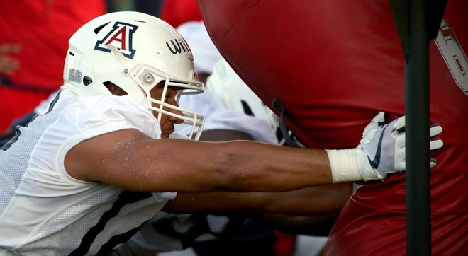 """""""It was not the way I wanted to end my season,"""" said UA's Kylan Wilborn of missing most of the team's bowl game last year with an injury."""