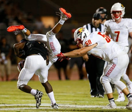 Chaparral football snags overtime win at Hamilton