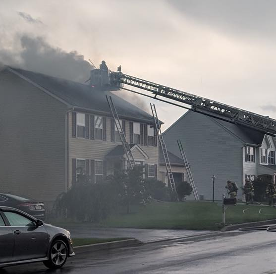 Annville fire caused by lightning strike sends 2 firefighters to the hospital