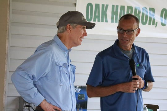 Senator Rob Portman, R-Ohio, and Craig Butler, director of the Ohio EPA, discussed issues facing Lake Erie at a roundtable in Oak Harbor on Saturday.