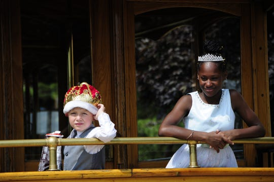 Lukas Proper and Destany Morrow were the King and Queen of the Royal Ball and rode the trolley at the NAACP Field Days on Saturday, Aug. 18, 2018 at Knox Field in Port Huron.
