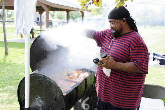 Tony Lindsay was cooking chicken and ribs at the NAACP Field Days on Saturday, Aug. 18, 2018 at Knox Field in Port Huron.