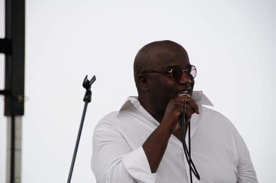 Joey Sommerville sings at the St. Clair Jazz Festival on Saturday, Aug. 18, 2018.